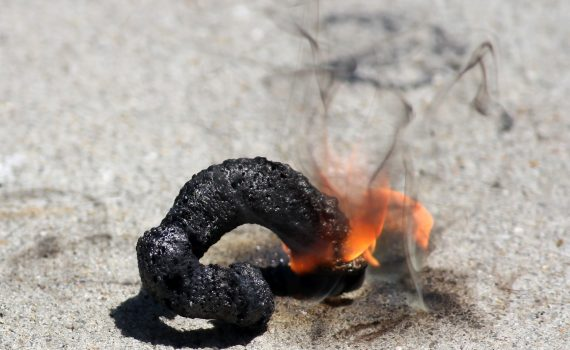 Black Snake Firework (Anne Helmenstine)