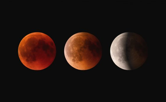 You can see a blood red moon during a total lunar eclipse and sometimes at moonrise. (Claudio Testa)
