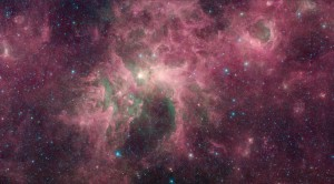 Screenshot of stars near the constellation Carina using Glimpse360 Viewer.