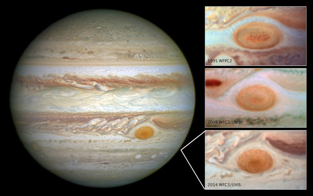 Jupiter's Red Spot Shrinkage