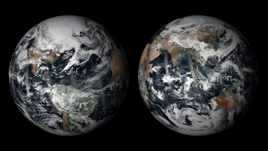 Image of Earth on April 22, 2014. Credit: NOAA/NASA