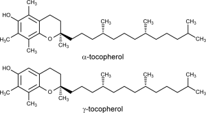 alpha- and gamma-tocopherol structures