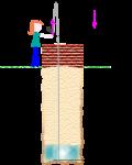 well drop setup illustration