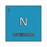 Color element cell for nitrogen.