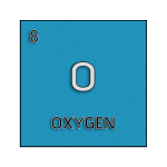 Color element cell for oxygen.
