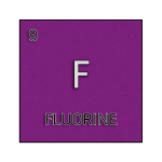 Color element cell for fluorine.