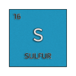 Color element cell for sulfur.