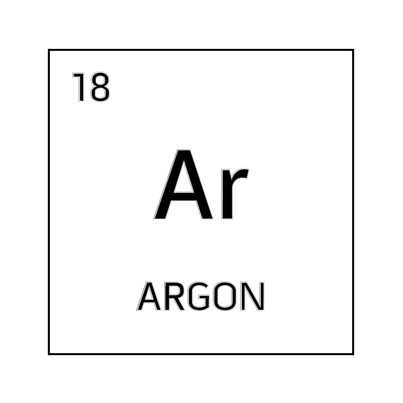 Black and white element cell for argon. - Science Notes ...