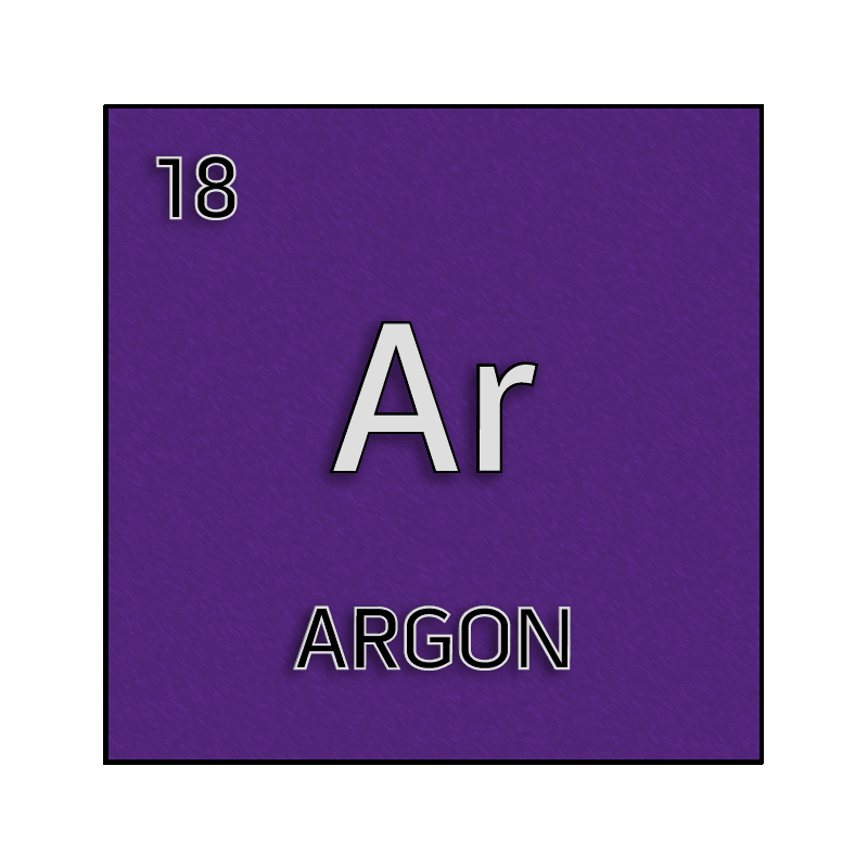 Color element cell for argon. - Science Notes and Projects