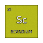 Color element cell for scandium.