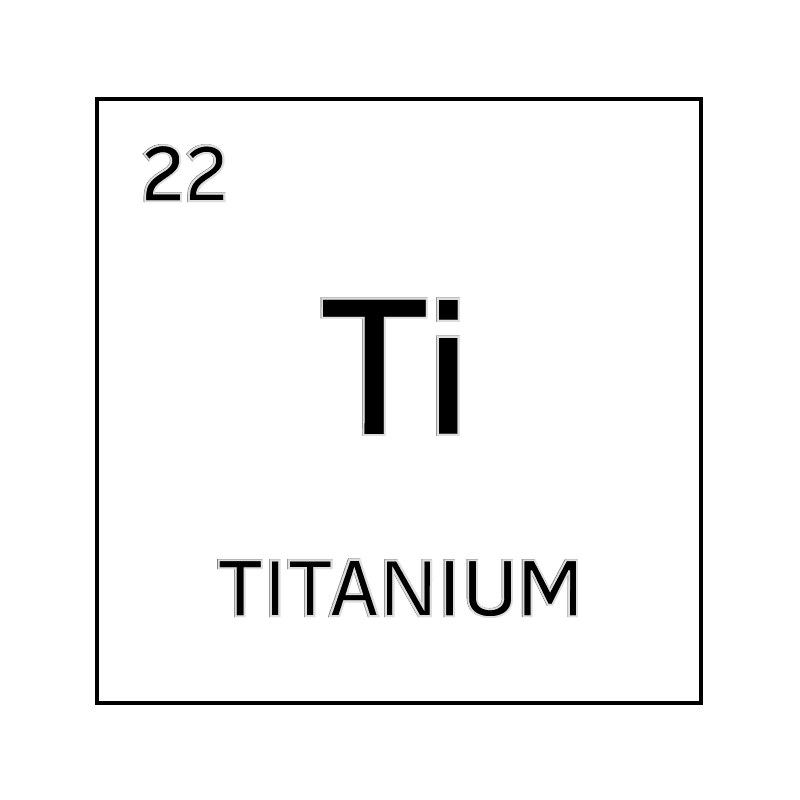 Black and white element cell for titanium. - Science Notes ...