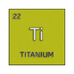 Color element cell for titanium.