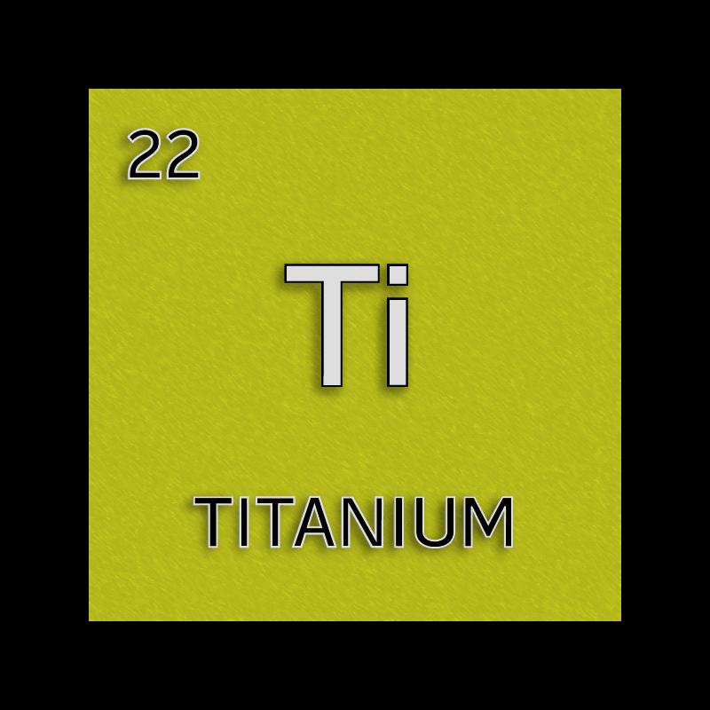 Czeshop Images Titanium Element Symbol