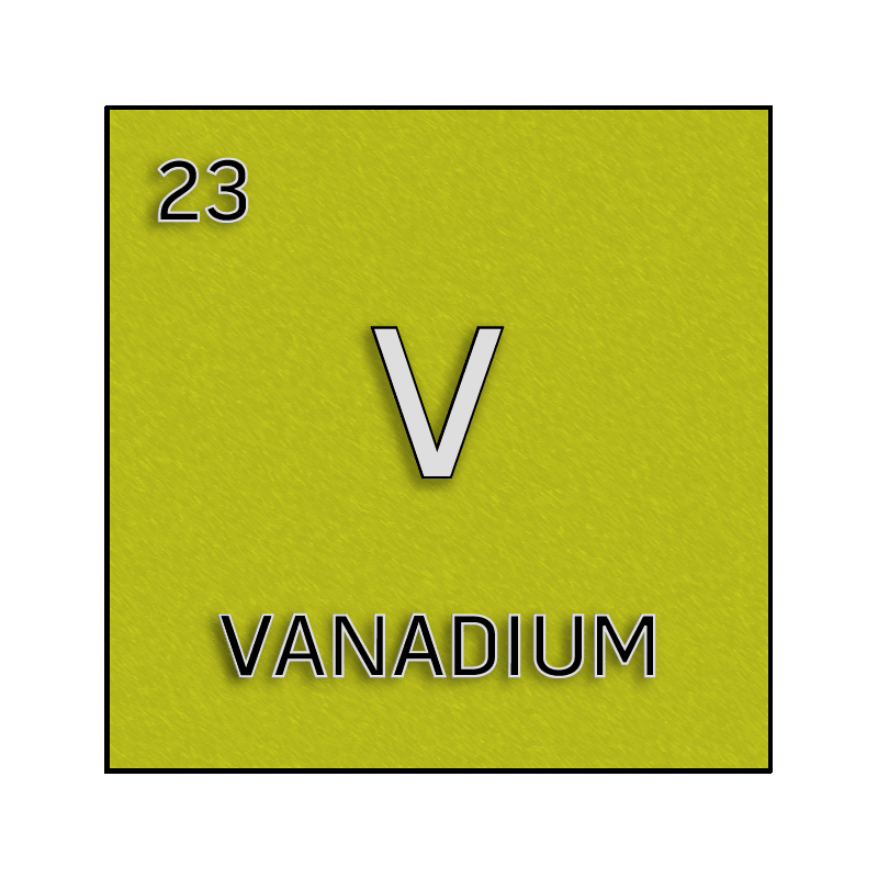 Color Element Cell For Vanadium Science Notes And Projects