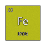 Color element cell for iron.