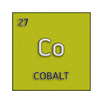 Color element cell for cobalt.