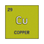 Color element cell for copper.