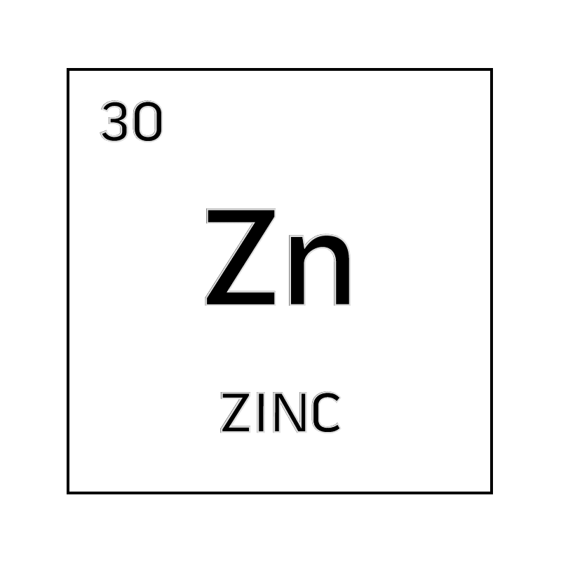 Black and white element cell for zinc. - Science Notes and ...