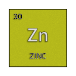 Color element cell for zinc.
