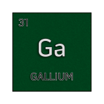Color element cell for gallium.