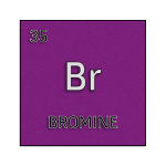 Color element cell for bromine.