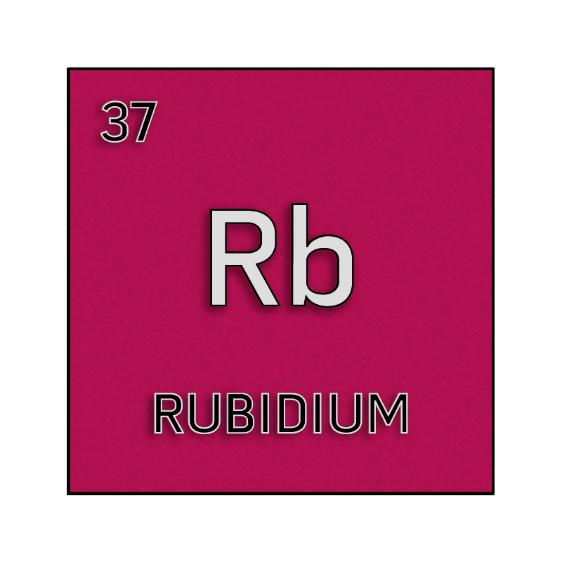 Color element cell for rubidium. - Science Notes and Projects
