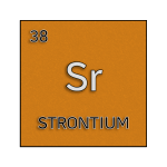 Color element cell for strontium.