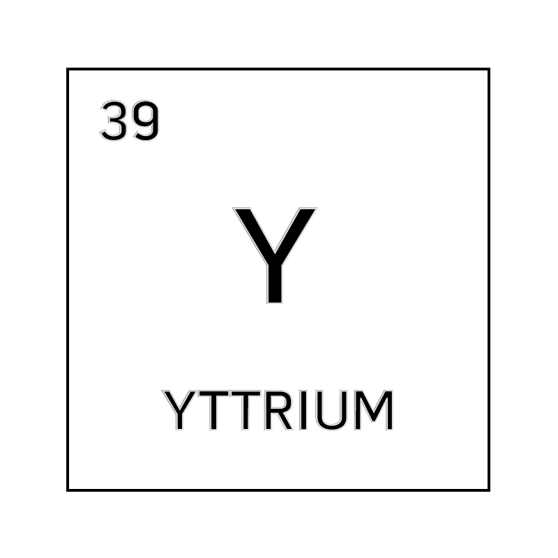 Black and white element cell for yttrium. - Science Notes ...
