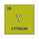 Color element cell for yttrium.
