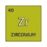 Color element cell for zirconium.