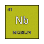 Color element cell for niobium.