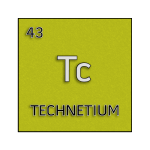 Color element cell for technetium.