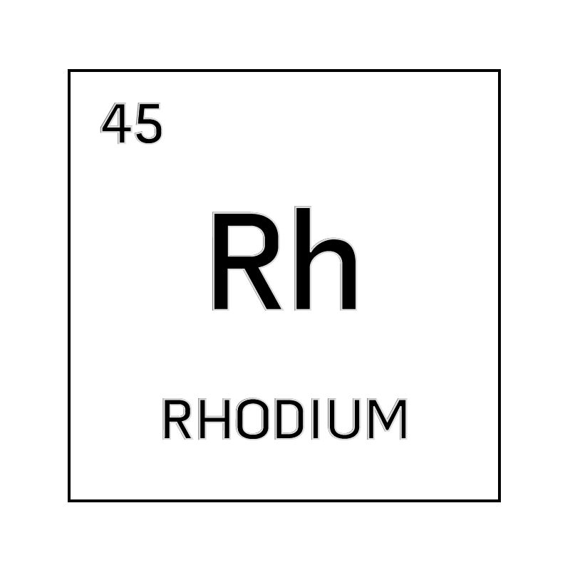 Black and white element cell for rhodium. - Science Notes ... Rhodium Element Project