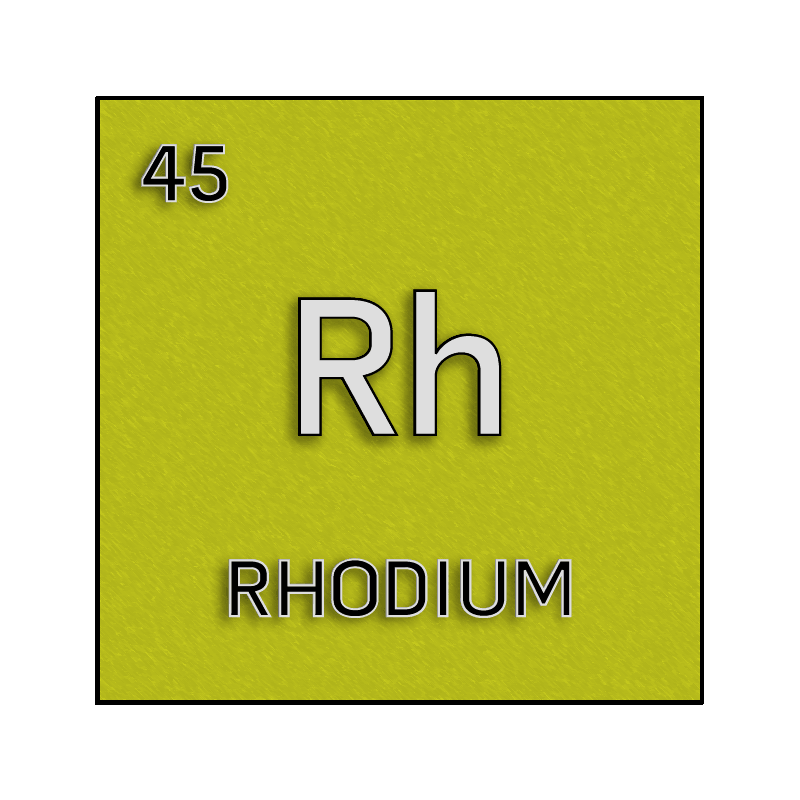 Color element cell for rhodium. - Science Notes and Projects Rhodium Element Project