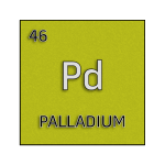 Color element cell for palladium.
