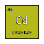 Color element cell for cadmium.