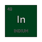 Color element cell for indium.