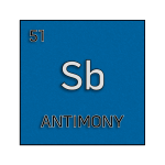 Color element cell for antimony.