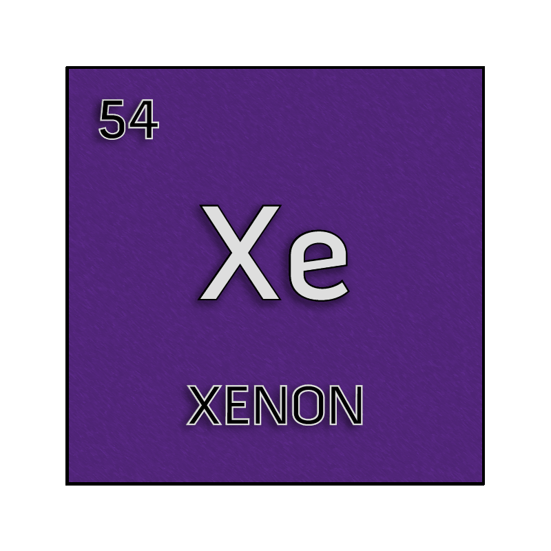 Xenon Periodic Table Color element cell for...