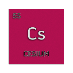 Color element cell for cesium.