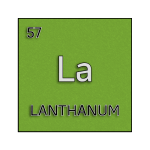 Color element cell for lanthanum.