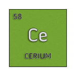 Color element cell for cerium.