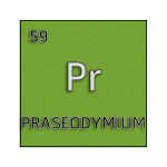 Color element cell for praseodymium.
