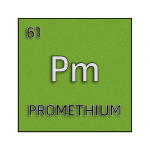 Color element cell for promethium.