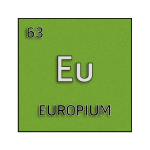 Color element cell for europium.