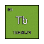 Color element cell for terbium.