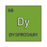 Color element cell for dysprosium.