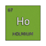 Color element cell for holmium.