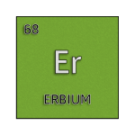 Color element cell for erbium.