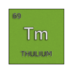 Color element cell for thulium.
